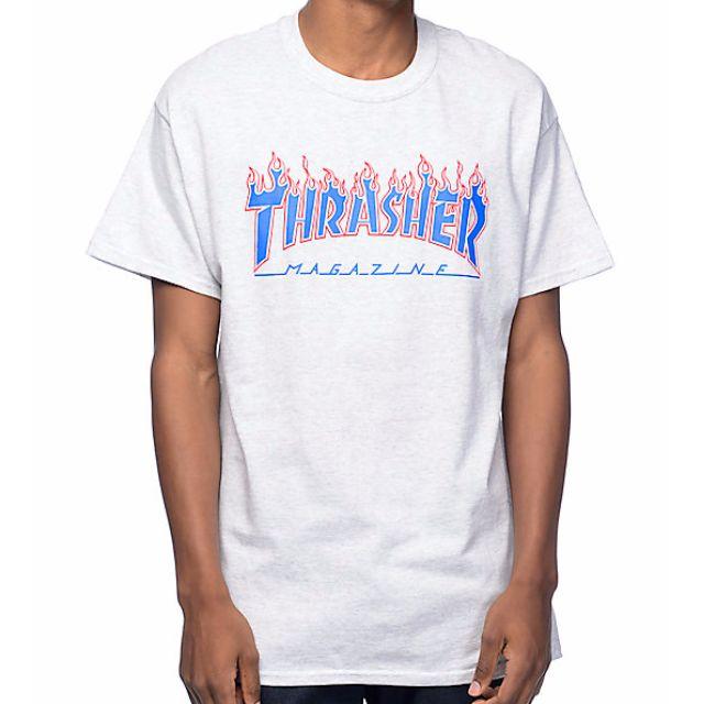 d0887da15 Thrasher Flame Logo Black Short Sleeve T-Shirt