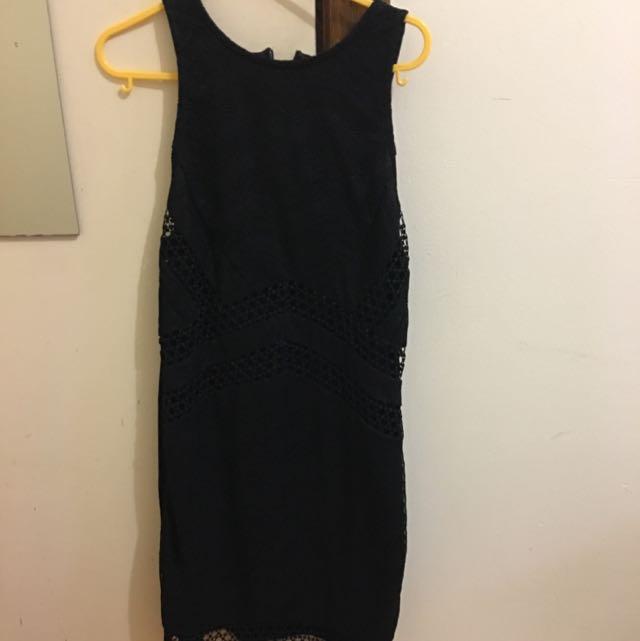 Top shop Black Dress Uk8