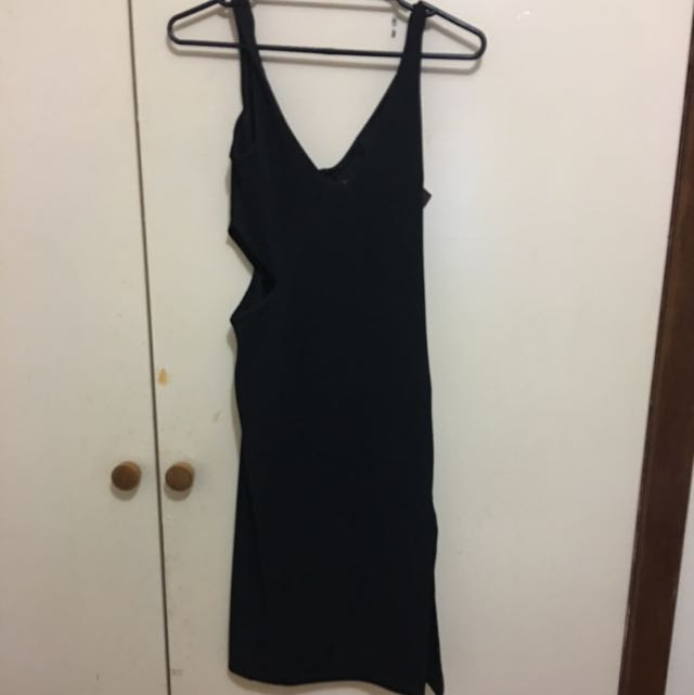 Top shop Midi Dress With Slits Size 8