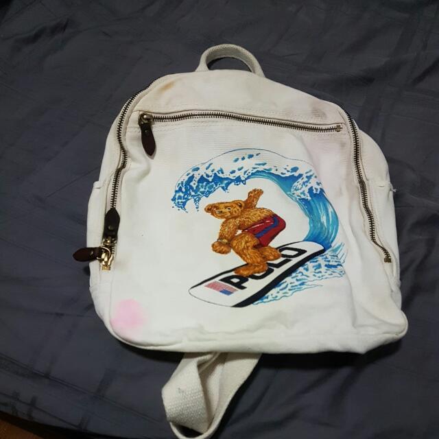 Vintage Polo Bear Backpack