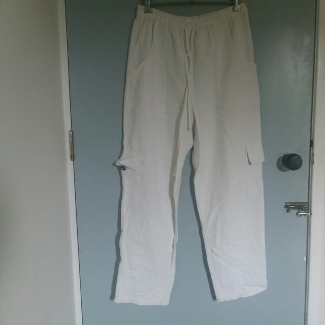 Thailand White Summer Pants