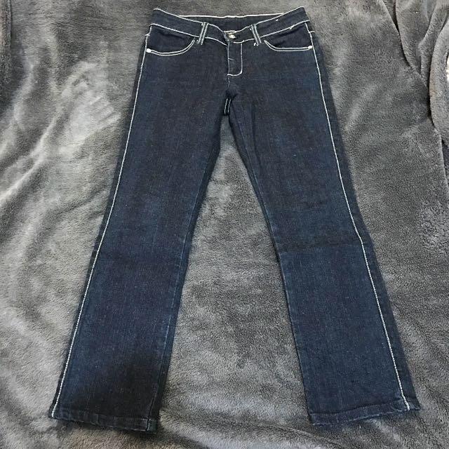 Wrangler女性七分彈性牛仔褲