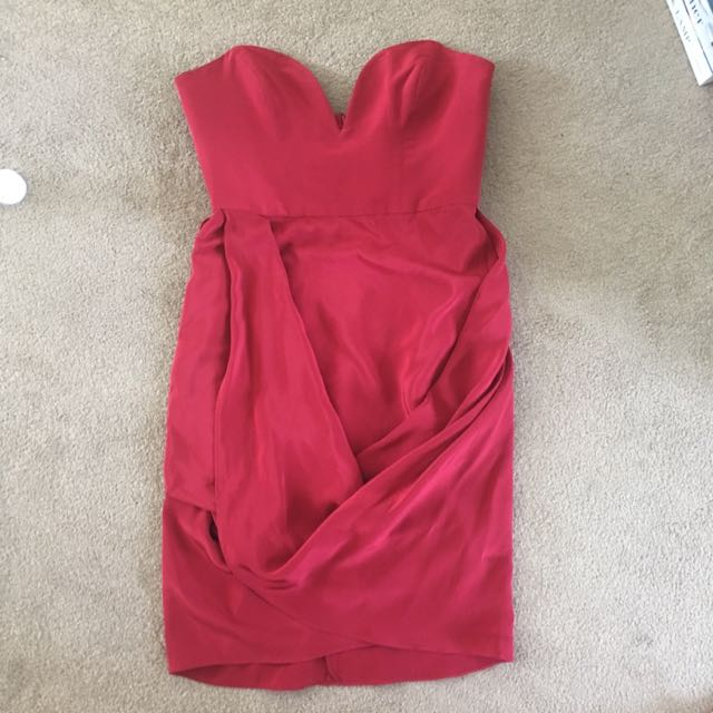 Zimmerman Red Mini Bustier Dress Size 0