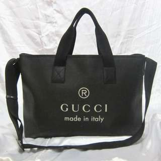 Auth and Over 90% new GUCCI 2 way black large tote crossbody bag 兩用袋231860