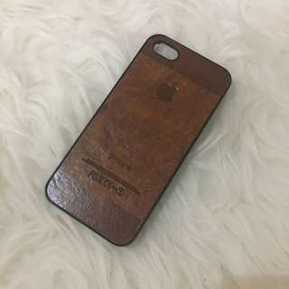 Brown Leather Iphone 5 Casing