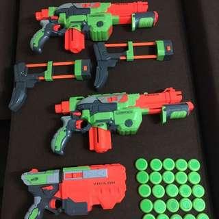 Nerf guns (1 vigilant,2 vortex ) 31 ammo