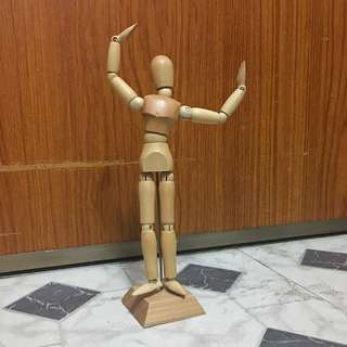 "8"" Wooden Male Mannequin"