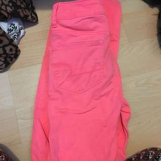 Hot Pink American Eagle Jeans