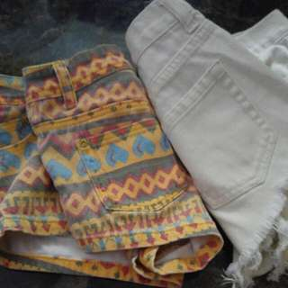 High Waisted Shorts 2 Pairs- Size 1