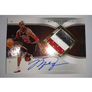 michael jordan auto  patch