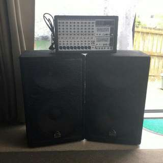 2X Speakers & 10channel Amp