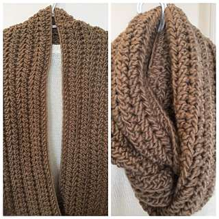 Hand crocheted Eternity Scarf