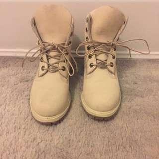 """Timberland 6"""" Premium Boot - White"""