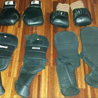Kick Boxing Gloves & Knee Pads