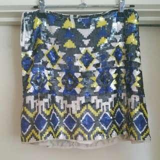 Forever New Sequin Skirt