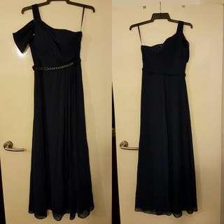 Elegant Navy Blue Gown