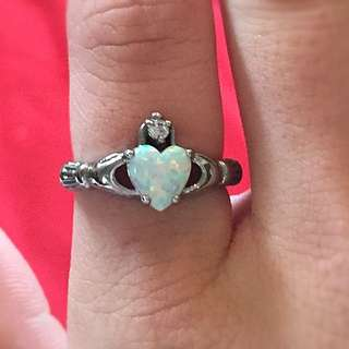 925 Silver Opal Ring