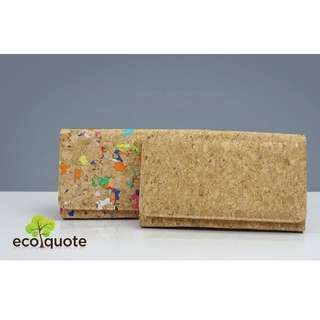 EcoQuote Long Wallet 3 Way Handmade Cork Material