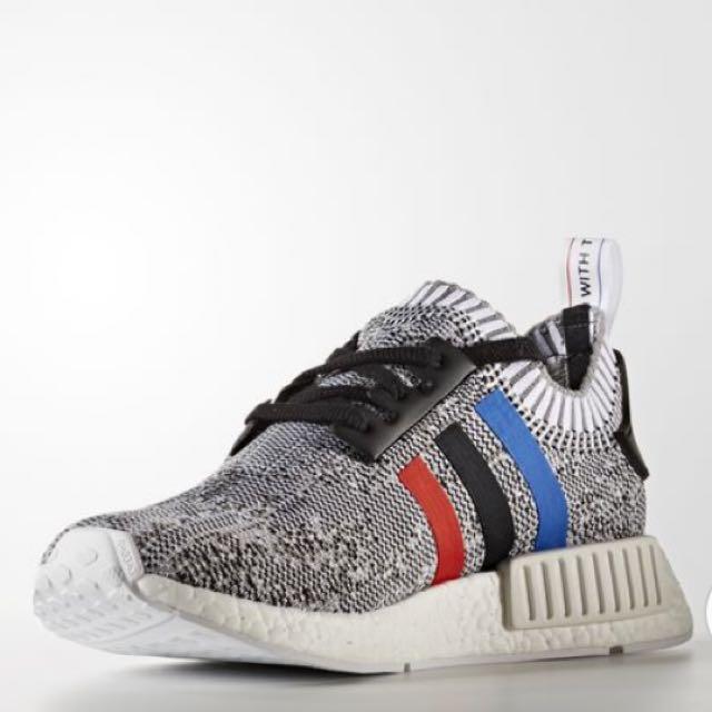 online retailer a7554 e3d53 100% Authentic & New Adidas NMD_R1 Primeknit Shoes White ...