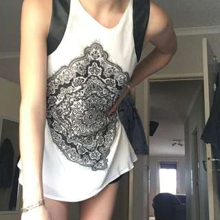 Dress / Shirt Patterned Black And White