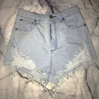 Abrand High Waisted Shorts