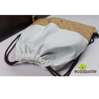 EcoQuote Gym Sacks / Drawstring Bag Handmade Cork Material