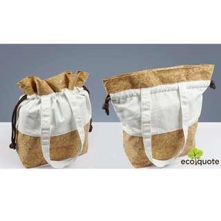 EcoQuote Shopping Bag Handmade Cork Material