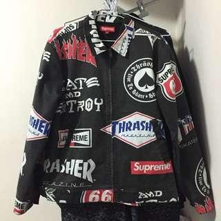 Supreme x Thrasher work jacket