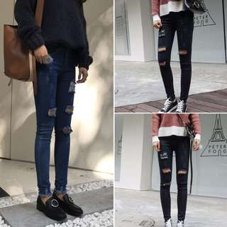 [PO] Ripped Denim Jeans