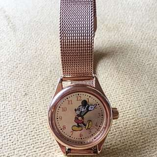 Petite Mickey Mouse Milanese Rose Gold Watch