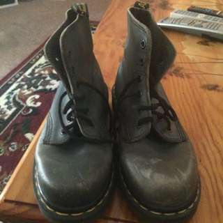 Greeny Grey Doc Martins