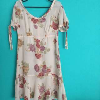 See Through Rampage Floral Dress