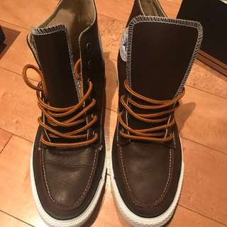 Men's Brown Leather Converse Size 9