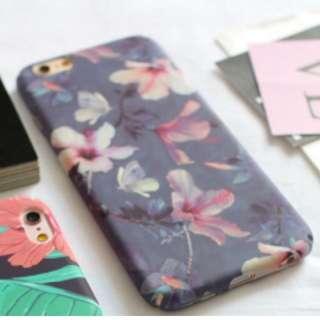 ✨年終出清✨iphone7手機殼-紫底彩繪花葉