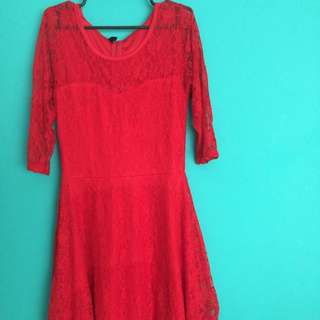 Ashley Collection Red Lacey Dress