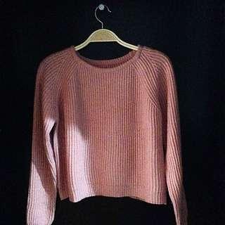 Crop Sweater Rajut