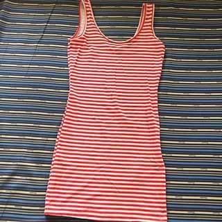 Fishbone Bodycon Stripe Dress