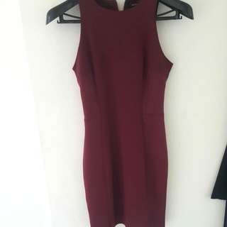 MNG Suit Wine Coloured Dress