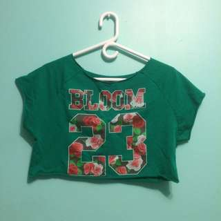 Green Bloom 23 Crop Top One Size