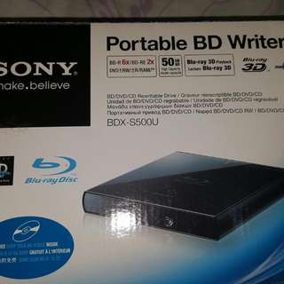 Sony Portable Blu-ray Writer And Player Drive