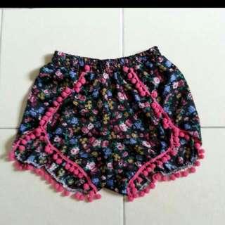 $6 Mailed Floral Pompom Shorts