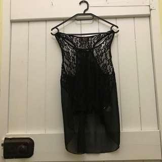 Black Lace Shirt XS