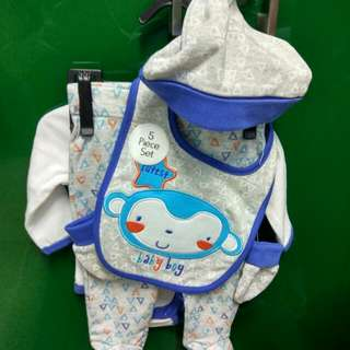 5 In 1 Set Baby Set Clothes