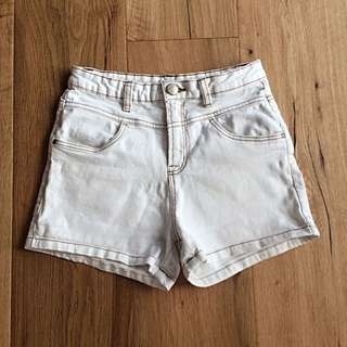 Cotton On High Waisted White Shorts