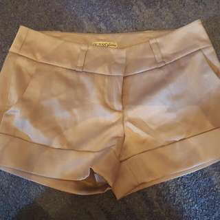 Gold Champagne Guess Work Shorts Size 28