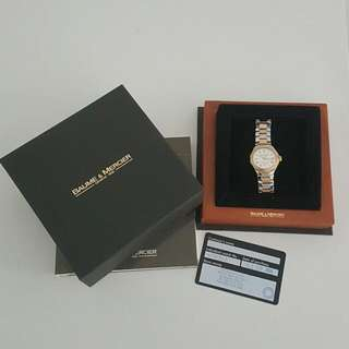Baume and Mercier Ladies Automatic Watch With Real Gold