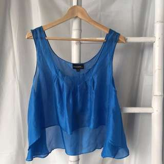 Gorgeous Ever Layne Melbourne Silk Cropped Top Size 6