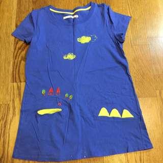 ⚡️含運 a la sha寶藍色長版上衣