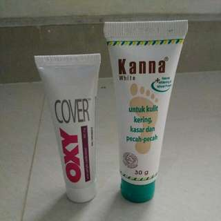 OXY cover Acne Pimple Medication 25g Free Kanna White 30g