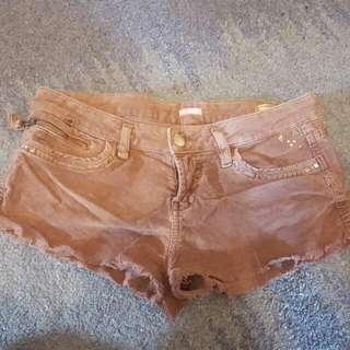 Bershka Brown Hotpants Shorts Size 6